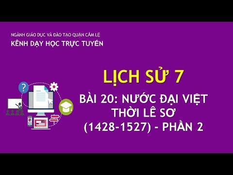 Lịch sử 7:Tiết 44- Đại Việt thời Lê Sơ.