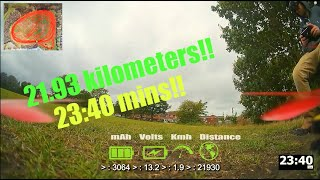 22km Ultralight 5 inch - long range - FPV - Total Distance Test