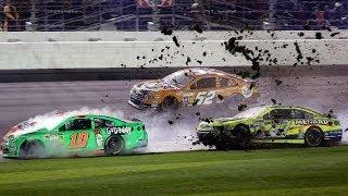 Patrick, Menard in 12-car wreck