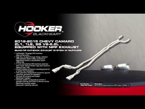 2012 - 2015 Camaro ZL1, 1LE NPP Exhaust System, Quad-tip Cat-Back Exhaust with mufflers