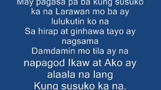 Pagsuko By Jireh Lim (Lyrics)