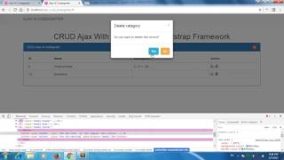 Ajax CRUD & Codeigniter -- How to select, read, get ajax with