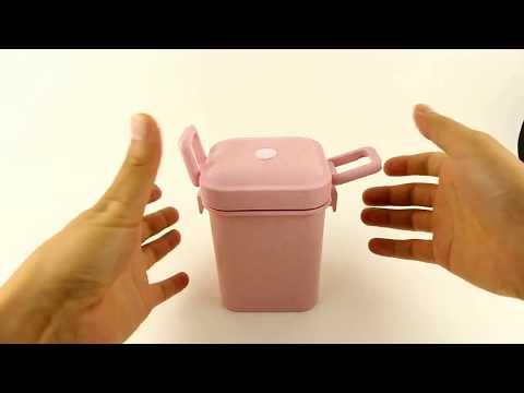 Ланч бокс супница Eco cup 550 мл розовый (ЕС-30859) Video #1