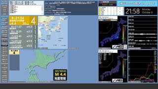 【胆振地方中東部】 2018年10月08日 21時54分(最大震度4)