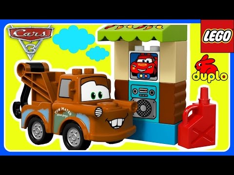 Lego Duplo Disney Pixar Cars 3 TOYS!  Mater's Shed Home Lego Duplo 10856!  Kids YouTube Video