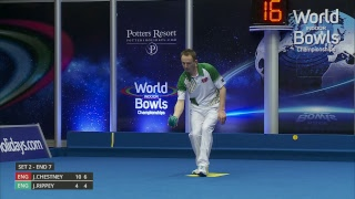 Just. 2019 World Indoor Bowls Championships: Day 5 Session 1