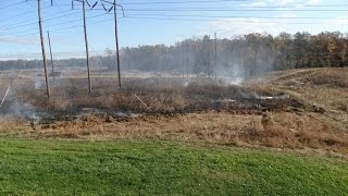 part 2...DEER SHACK HUNTING FAIL*POWER LINE EXPLOSION,DUST,FIRE, FAILED TREE REMOVAL