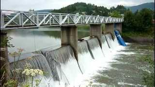 preview picture of video 'Krempna zalew na rzece Wisłoka'