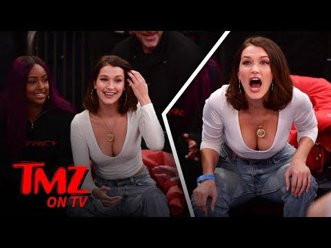Bella Hadid Goes Full Bust At Lakers Game! | TMZ TV