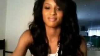Ciara on Ustream singing Rock Steady by Aretha Franklin
