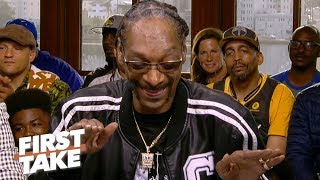 Snoop Dogg sings 'AD is on the way' to the Lakers, says LeBron is taking control | First Take