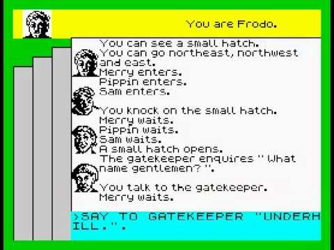 Lord of the Rings Walkthrough, ZX Spectrum
