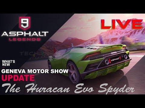 Asphalt 9 Geneva Motor Show Update The Lamborghini Huracan Evo