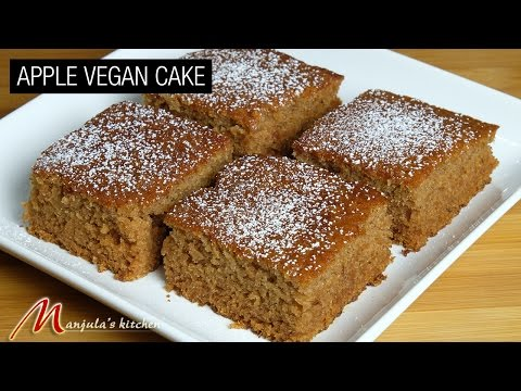Video Apple Vegan Cake Recipe by Manjula