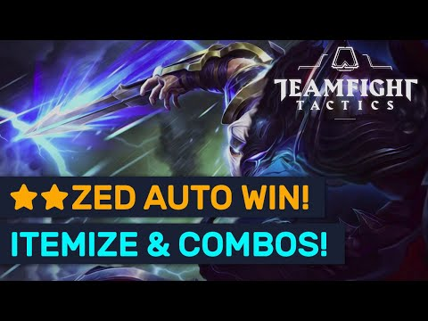 AUTO WIN Zed Builds! Itemization & Build Orders! | TFT | Teamfight Tactics