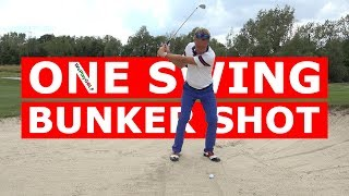 Getting Out Of The BUNKER In ONE SWING! - Simple Explanation GOLF Tutorial