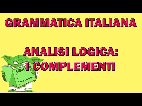 Analisi logica: i complementi