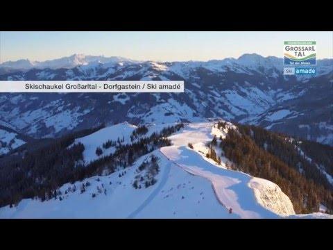 Drohnenflug Skigebiet Großarltal-Dorfgastein