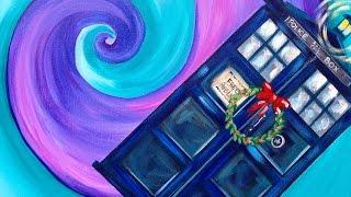 Doctor Who Dunnit Art Crawl Easy Acrylic Painting Tardis | TheArtSherpa