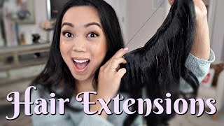 Found these hair extensions online and I wanted to give them a try for myself ItsJudyTime