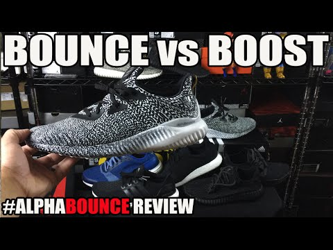 adidas Bounce vs Boost Comparison: #AlphaBounce Review + On Feet