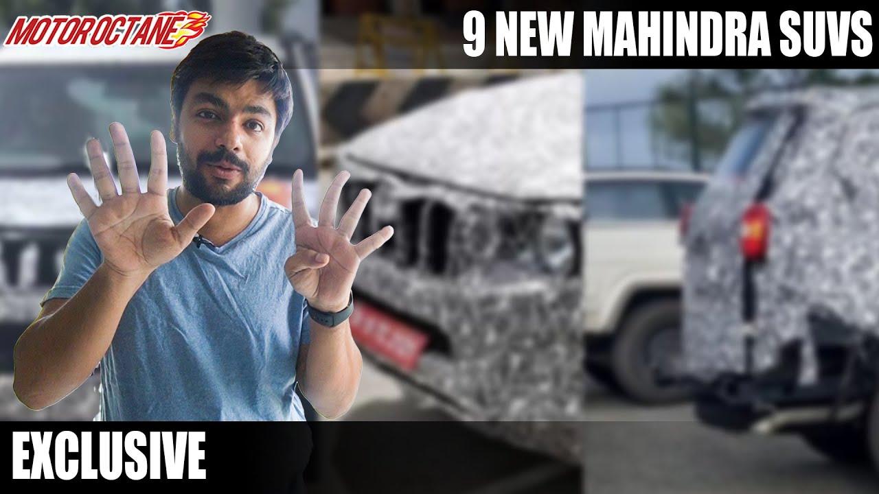 Motoroctane Youtube Video - BREAKING - New 9 Mahindra SUVs Coming