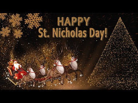 🎅🏼Happy St. Nicholas Day!🎅🏼Best wishes!🎅🏼4K Beautiful Greeting card
