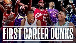 NBA Stars' First Career Dunk (Michael Jordan, Kobe Bryant, Vince Carter, LeBron James)