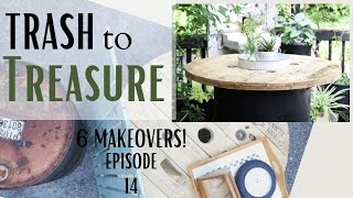 Trash To Treasure Episode 14 ~ Metal Barrel Makeover ~ Cable Spool Repurpose ~ Laundry Room Sign