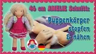 DIY | Puppenkörper stopfen & nähen für Sami Schnitt AMELIE • Sami Doll Tutorials