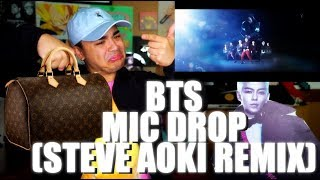 BTS - MIC Drop (Steve Aoki Remix) MV Reaction [DID YOU SEE MY BAG THO]