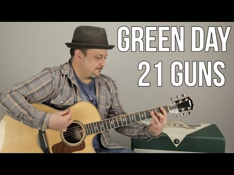 Green Day - 21 Guns - How To Play On Guitar - Guitar Lesson Mp3