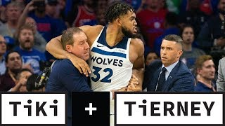 Joel Embiid and Karl-Anthony Towns' Drama On Court And Online | Tiki + Tierney