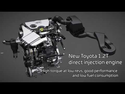 Toyota C-HR 1.2 Turbo Engine (with voice description)