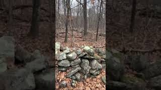 Brian Ghilliotti: Moosup, CT: Wall Complex: Closer Look At Walls, Cairn In Swamp