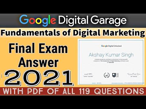 Google Digital Marketing Final Exam Answer 2021   Google Digital ...