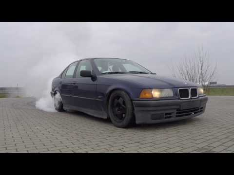 BMW E36 325i Burnout Donut Drift