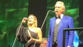 """Pia Toscano sings """"Canto Della Terra"""" with Andrea Bocelli - Salt Lake City 11/29/18"""