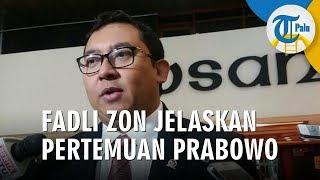 Fadli Zon Jelaskan Pertemuan Prabowo dengan Jokowi
