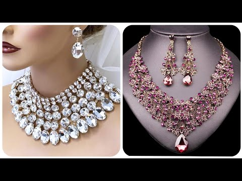 Drop-Dead Gorgeous Crystal And Diamond Necklace Designs Chocker And Layered Necklace