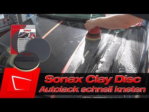SONAX CLAY DISC vs. REINIGUNGSKNETE Vergleich - Lack schnell kneten inkl. Petzoldts Magic Clean