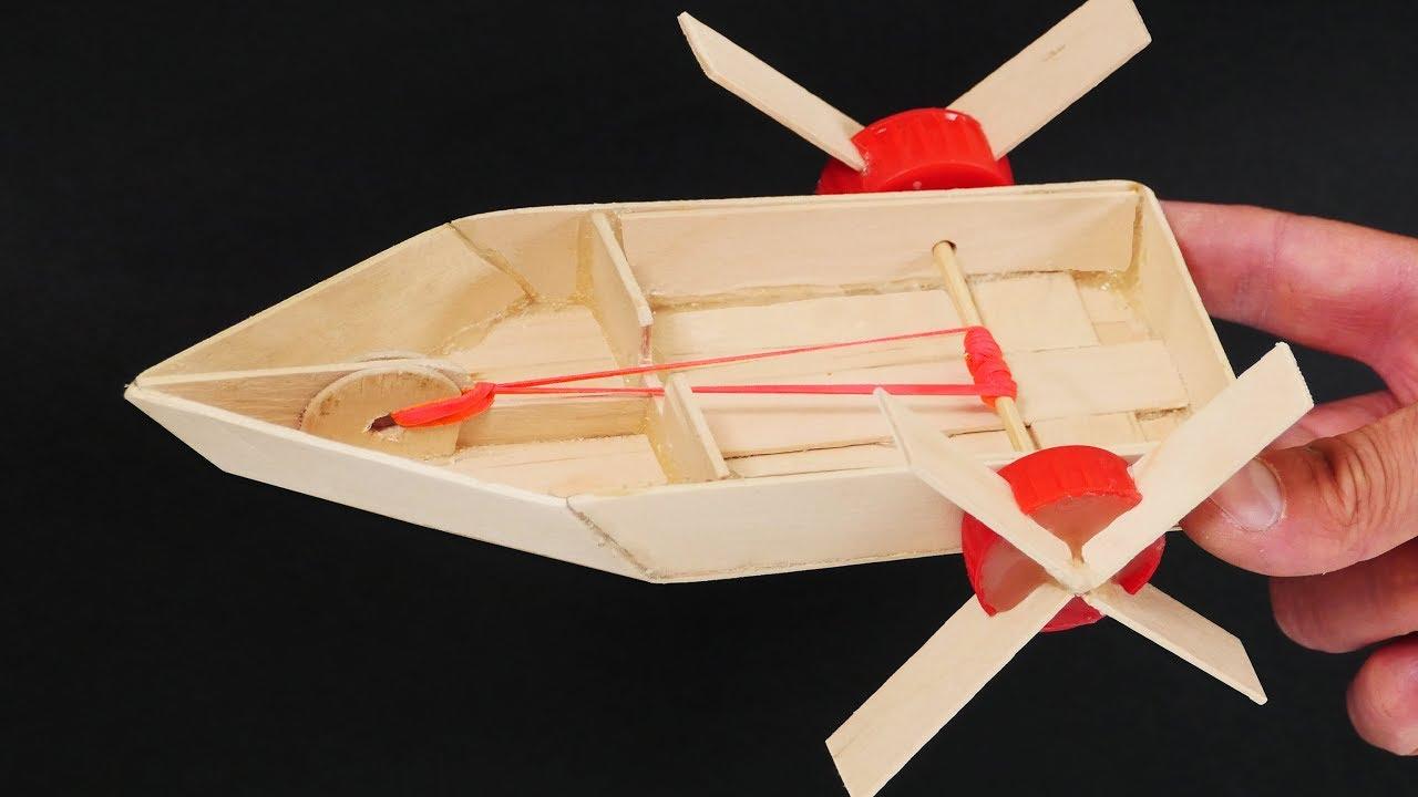 Make an Elastic Band Paddle boat thumbnail