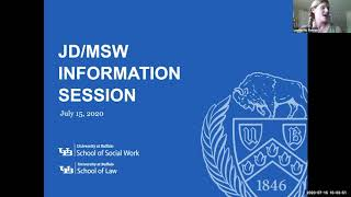 an online information session about the law school's jd/msw program