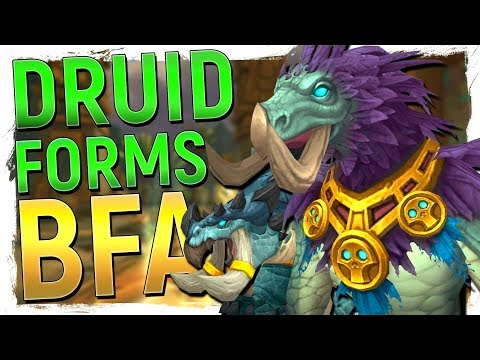 AWESOME New Zandalari DINO Druid Forms in WoW Battle for Azeroth - Preview