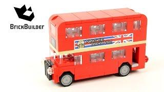 Lego Creator 40220 London Bus - Lego Speed Build