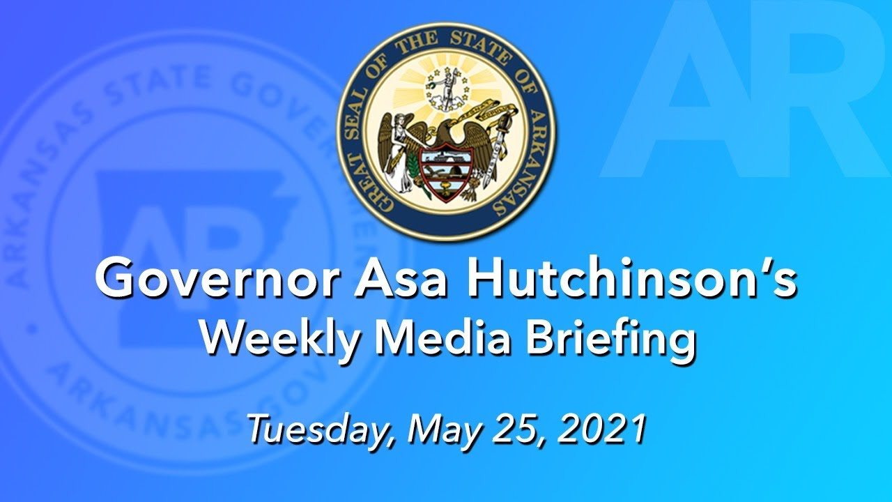 LIVE: Governor Hutchinson Provides Weekly Media Update (05.25.21)