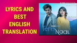Tere Naal LYRICS TRANSLATION TULSI KUMAR   - YouTube