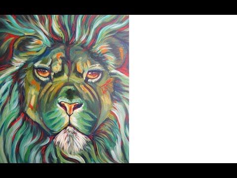 Lion | Acrylic painting wildlife tutorial | The Art Sherpa