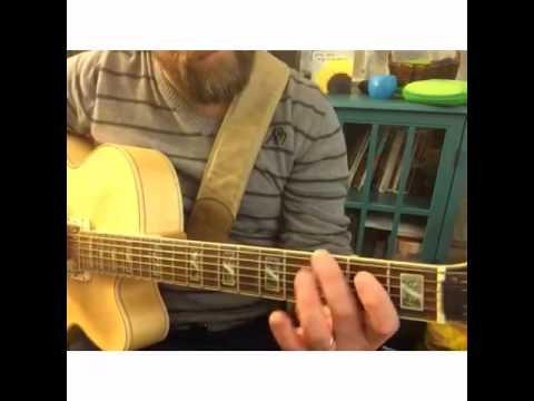 Jazz guitar lick in G