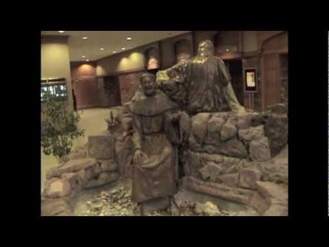 Jesus and St. Francis of Assisi Statue by Sculptor Mic Carlson